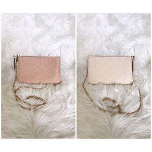Louis Vuitton Double Zip Pochette Empreinte